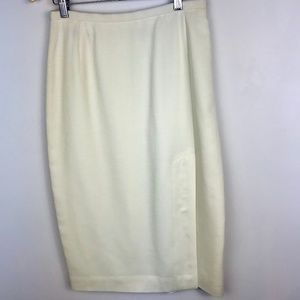 Anne Klein Vintage 90's Ivory Pencil Skirt Size 10